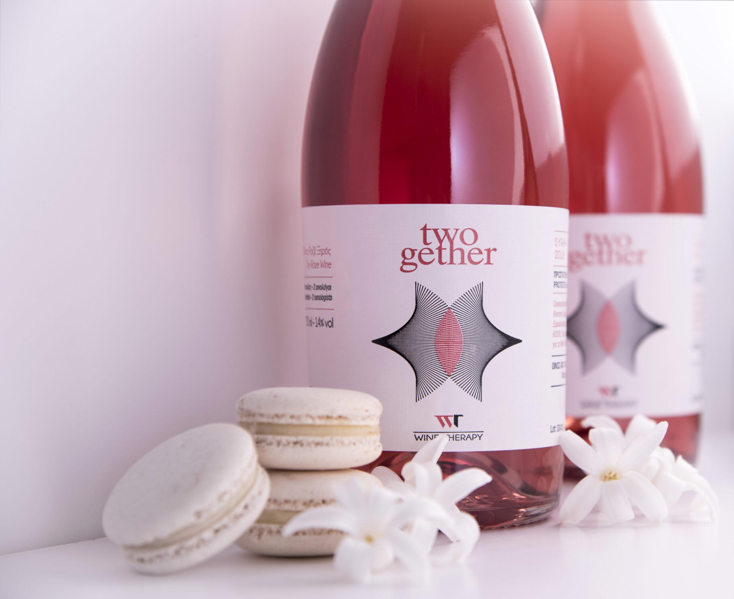"Wine Therapy σε ""ροζ"" φόντο"